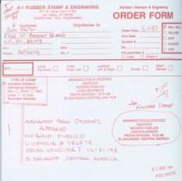 Заказ на изготовление печати нотариуса Сальвадора, размещенный в Американской компании.