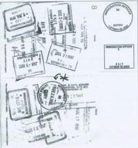 Заказы на изготовление официальных штампов иммиграционной службы Каймановых островов.